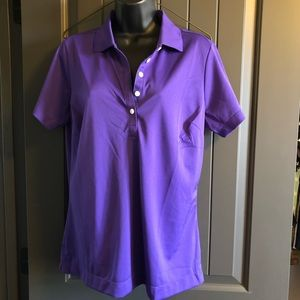 Nike Golf Purple Women's Dri-Fit Golf Shirt NWT
